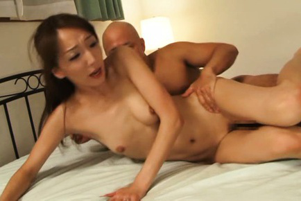 Shiho. Shiho Asian doll has tongue sucked while her arse is