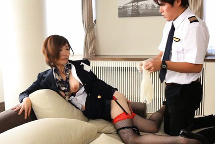 Sayuri kinsei. Sayuri Kinsei Asian stewardess has assed exposed and licked